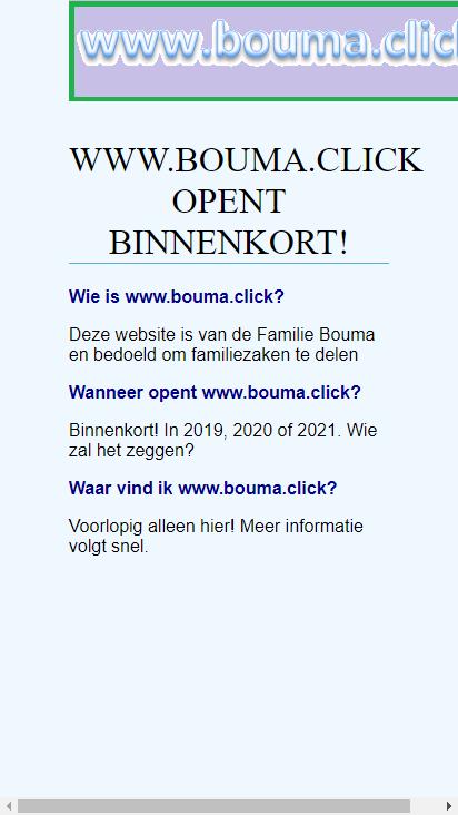 Screenshot mobile - https://bouma.click/
