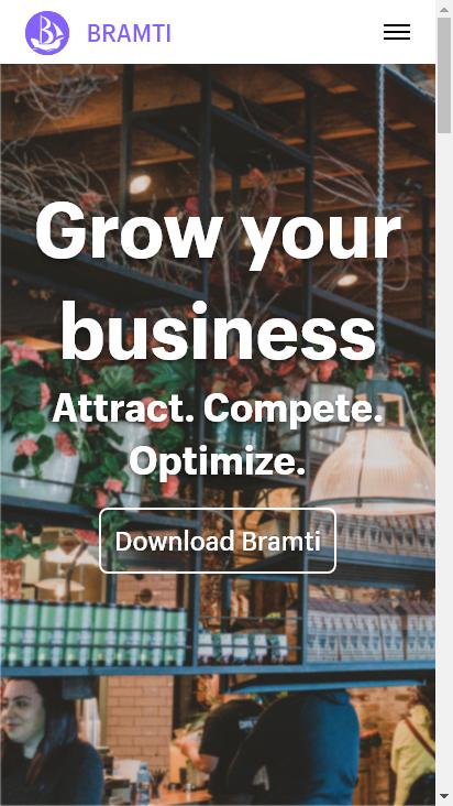 Screenshot mobile - https://www.bramti.com/