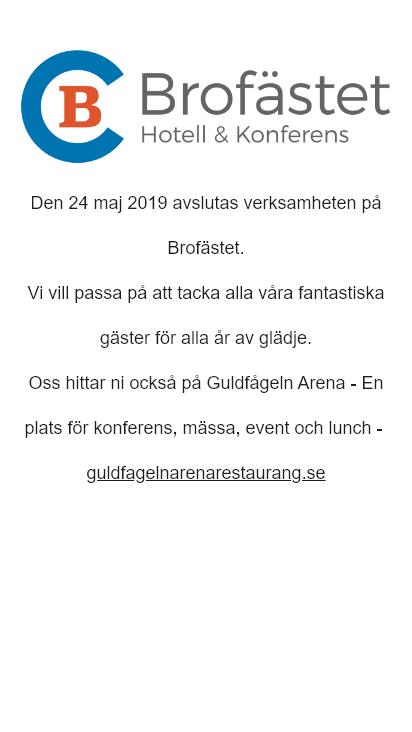 Screenshot mobile - https://brofastet.se/