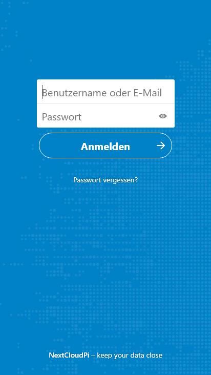 Screenshot mobile - https://buelowcloud.psybnc.org/index.php/login