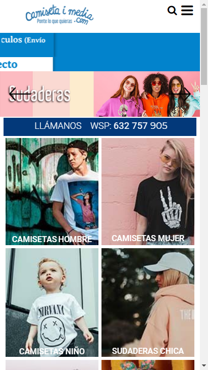 Screenshot mobile - https://www.camisetaimedia.com/