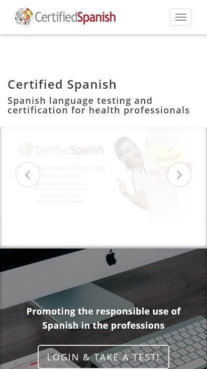 Screenshot mobile - https://certifiedspanish.com/