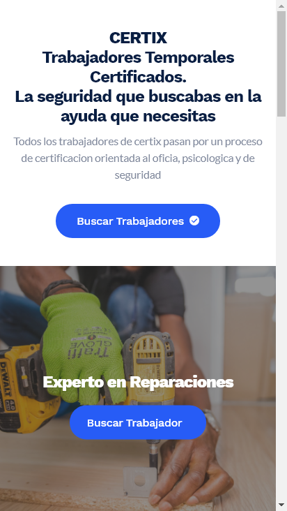 Screenshot mobile - https://certix.io/