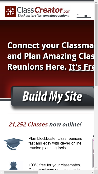 Screenshot mobile - https://www.classcreator.com/