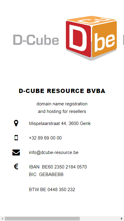 Screenshot mobile - https://www.dcube-resource.be/dcube/index.html