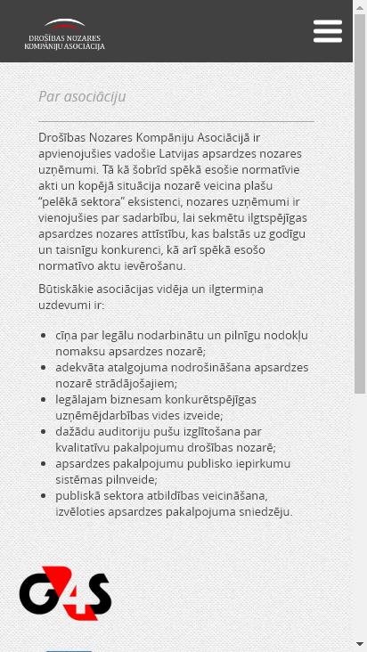 Screenshot mobile - https://www.dnka.lv/