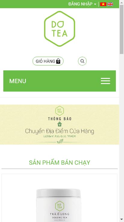 Screenshot mobile - https://dotea.vn/