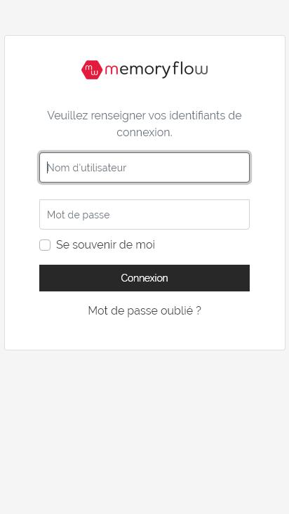 Screenshot mobile - https://dunlop.memory-flow.fr/login