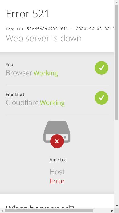 Screenshot mobile - https://dunvii.tk/
