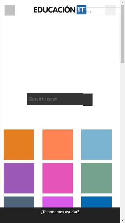 Screenshot mobile - https://www.educacionit.com/