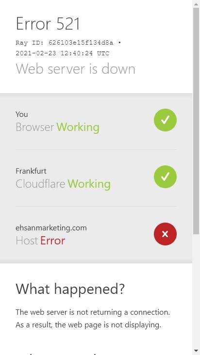 Screenshot mobile - https://ehsanmarketing.com/