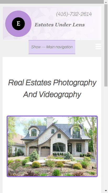 Screenshot mobile - https://www.estatesunderlens.ca/