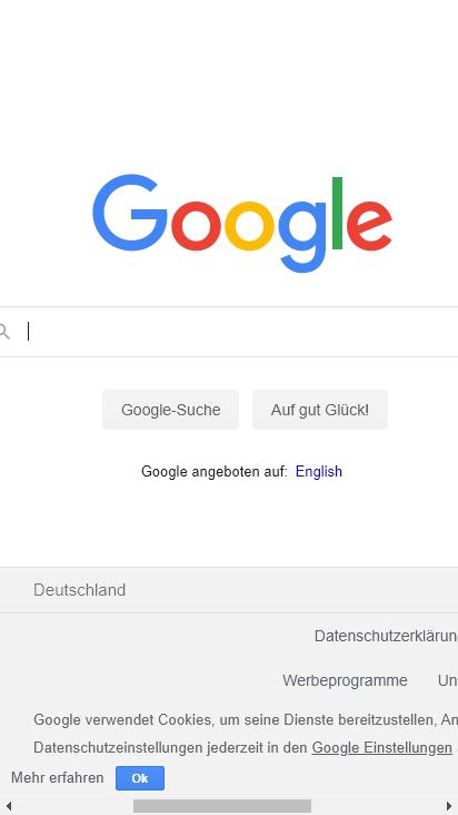 Screenshot mobile - https://www.google.com/