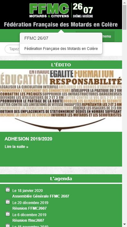 Screenshot mobile - https://ffmc2607.org/