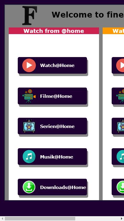 Screenshot mobile - https://finefrau.tk/