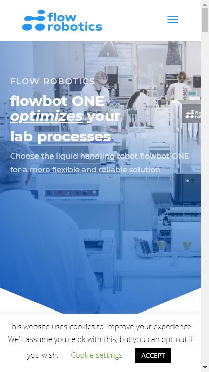 Screenshot mobile - https://flow-robotics.com/