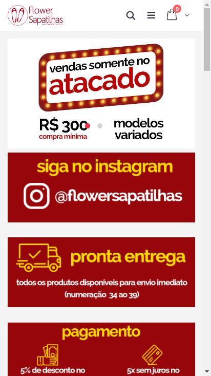 Screenshot mobile - https://www.flowersapatilhas.com.br/
