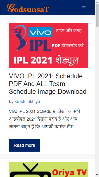Screenshot mobile - https://www.godsunsat.com/
