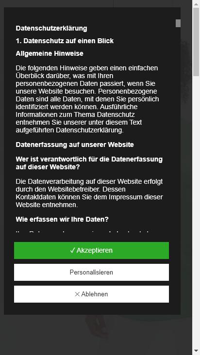 Screenshot mobile - https://www.greiff.de/