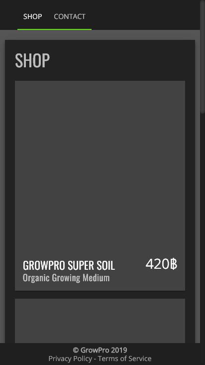 Screenshot mobile - https://www.growpro.shop/