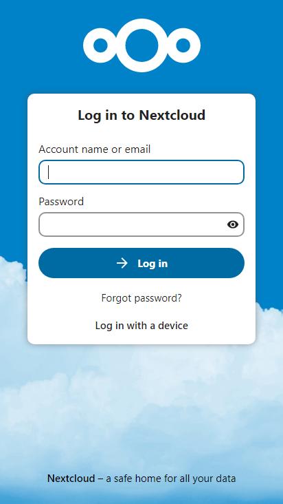 Screenshot mobile - https://guckuck.dynv6.net/login