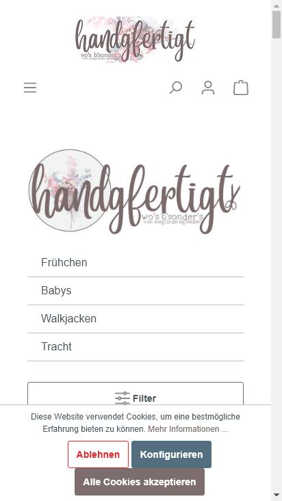 Screenshot mobile - https://handgfertigt.de/