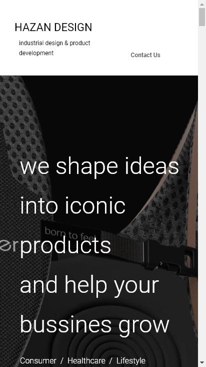 Screenshot mobile - https://www.hazandesign.com/
