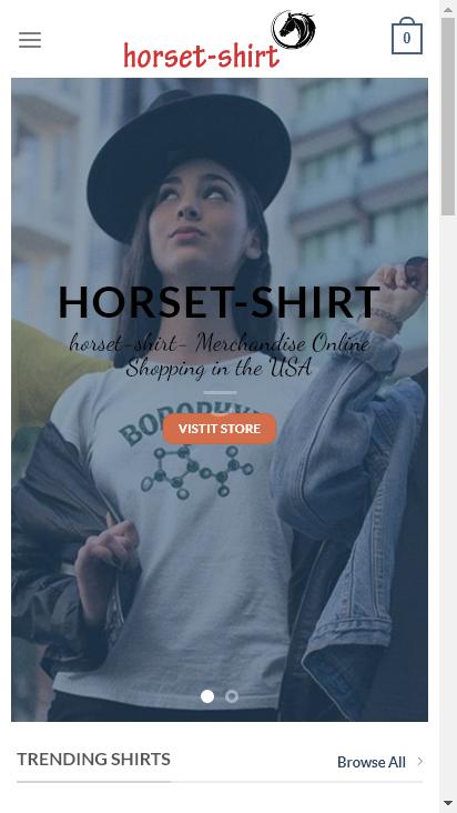 Screenshot mobile - https://horset-shirt.com/