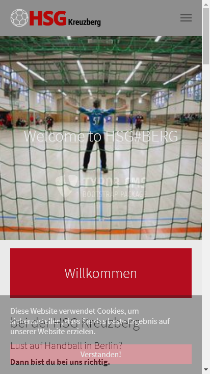 Screenshot mobile - https://www.hsg-kreuzberg.de/