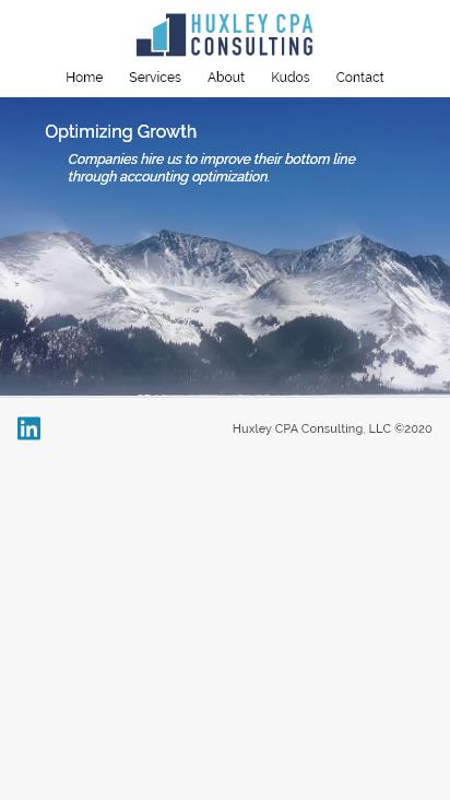 Screenshot mobile - https://www.huxleycpa.com/