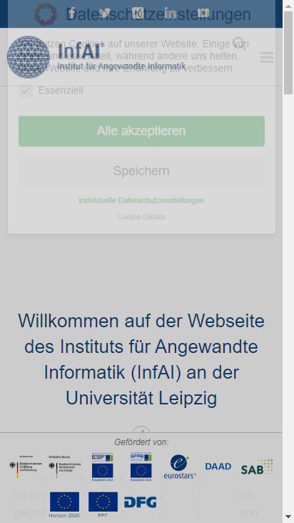 Screenshot mobile - https://infai.org/