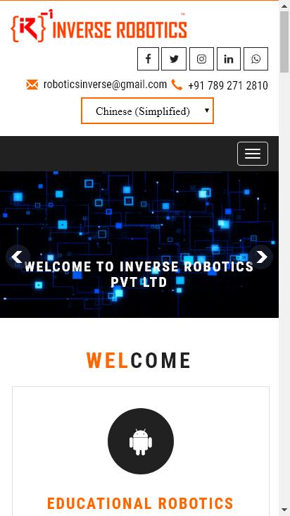 Screenshot mobile - https://inverserobotics.in/