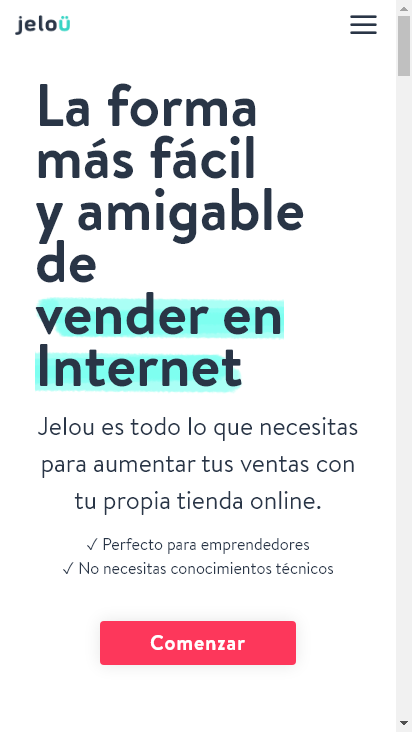 Screenshot mobile - https://www.jelou.co/