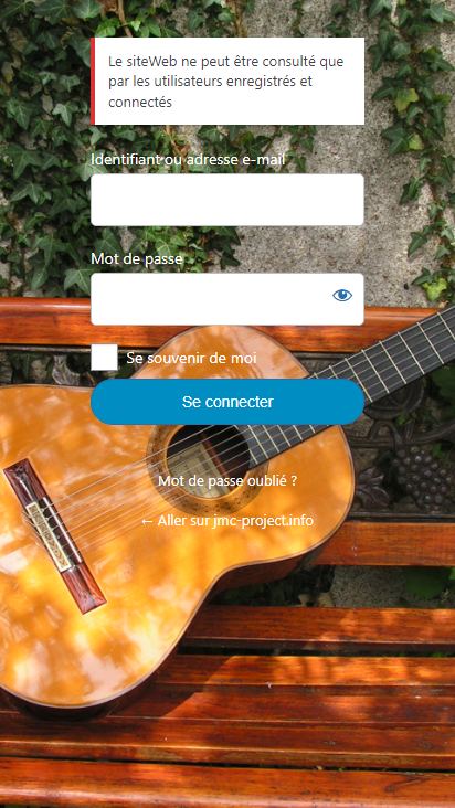 Screenshot mobile - https://jmc-project.info/