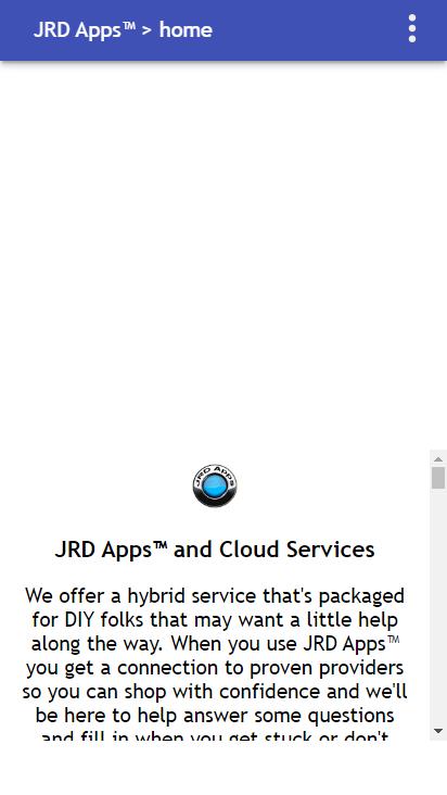 Screenshot mobile - https://www.jrdapps.com/home