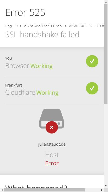 Screenshot mobile - https://julianstaudt.de/