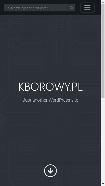 Screenshot mobile - https://www.kborowy.pl/