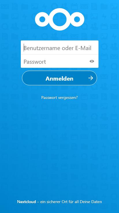 Screenshot mobile - https://kreutzer.dns.army/login