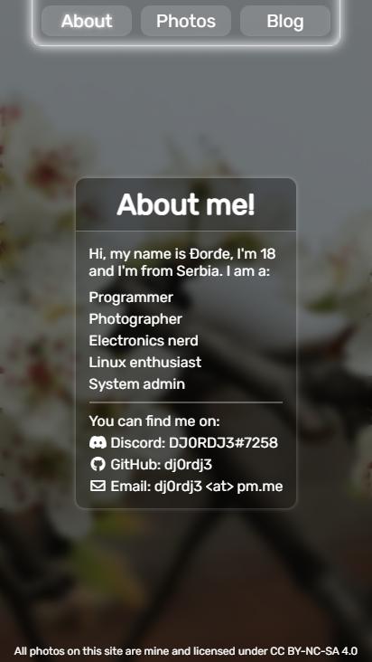 Screenshot mobile - https://krstic.dev/