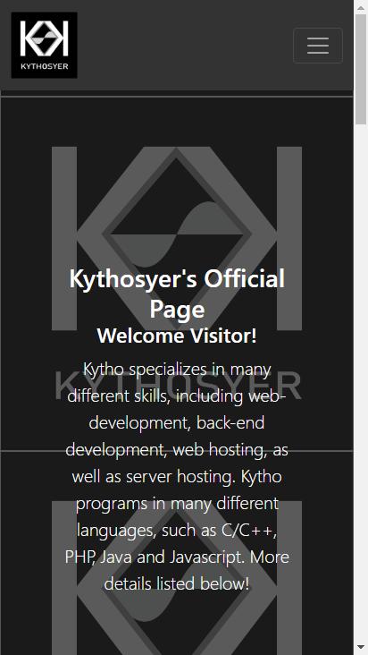 Screenshot mobile - https://kythosyer.com/