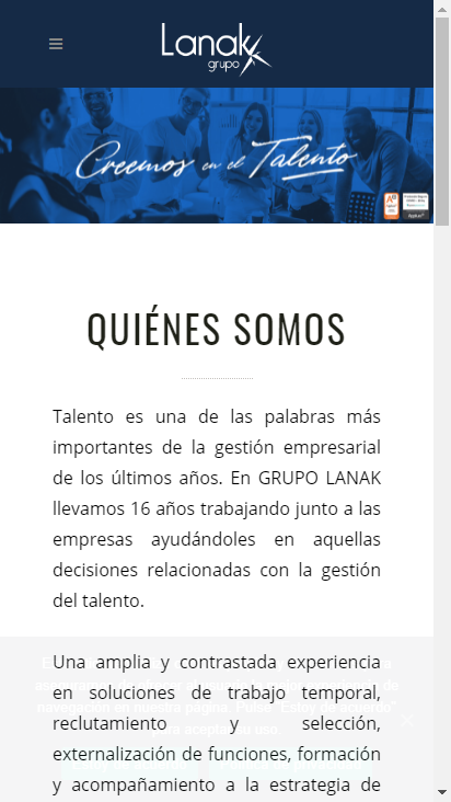 Screenshot mobile - https://www.lanak.es/