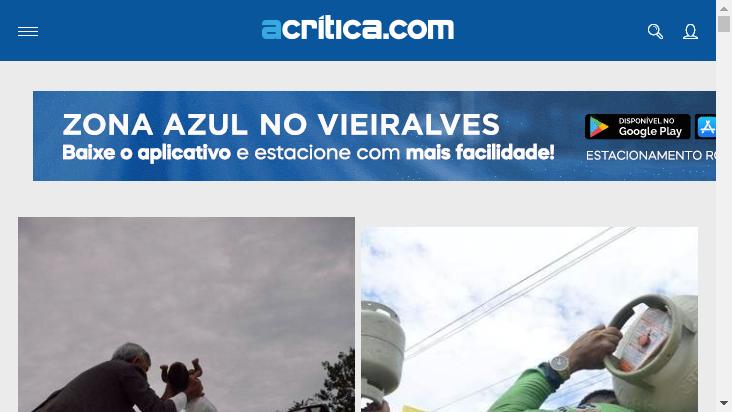 Screenshot mobile landscape - https://www.acritica.com/