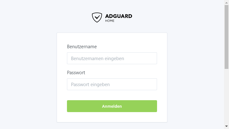 Screenshot mobile landscape - https://adguard.dekugon.net/login.html
