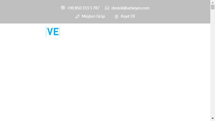 Screenshot mobile landscape - https://www.adveyer.com/