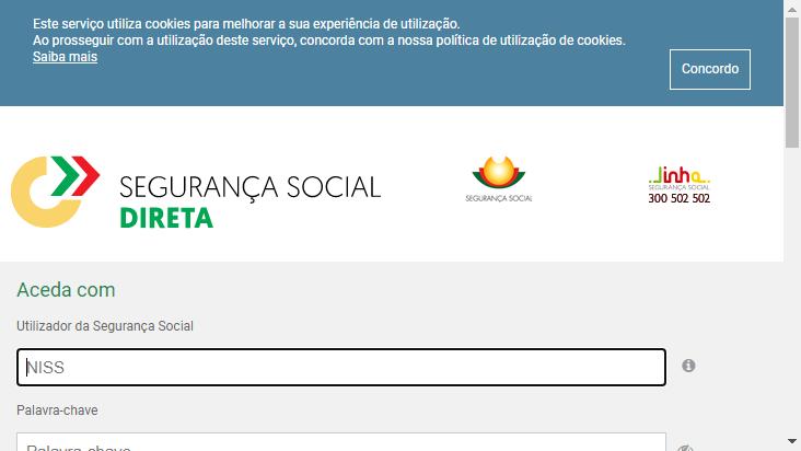 Screenshot mobile landscape - https://app.seg-social.pt/sso/login?service=https%3A%2F%2Fapp.seg-social.pt%2Fptss%2Fcaslogin