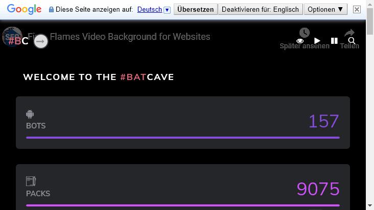 Screenshot mobile landscape - https://www.batcavelounge.eu/