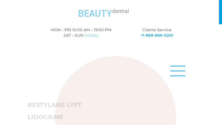 Screenshot mobile landscape - https://beautydermal.com/