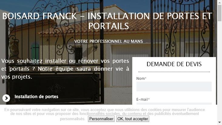 Screenshot mobile landscape - https://www.boisard-franck-lpa.fr/