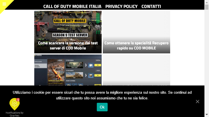 Screenshot mobile landscape - https://www.callofdutymobile.it/