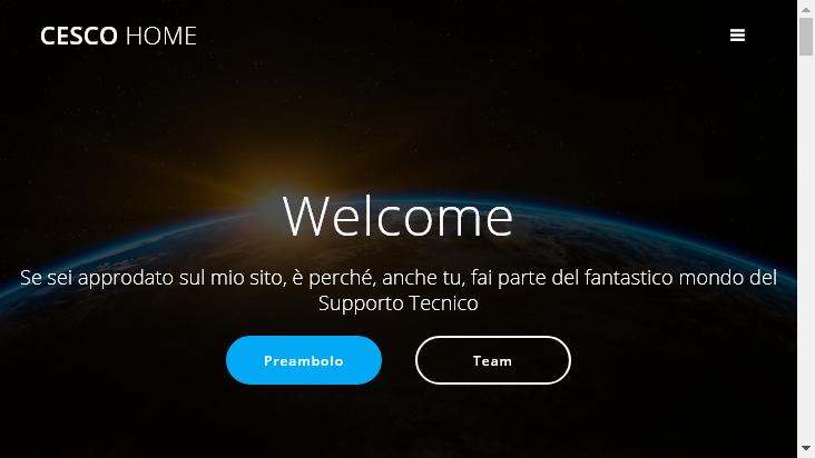 Screenshot mobile landscape - https://cescohome.homepc.it/